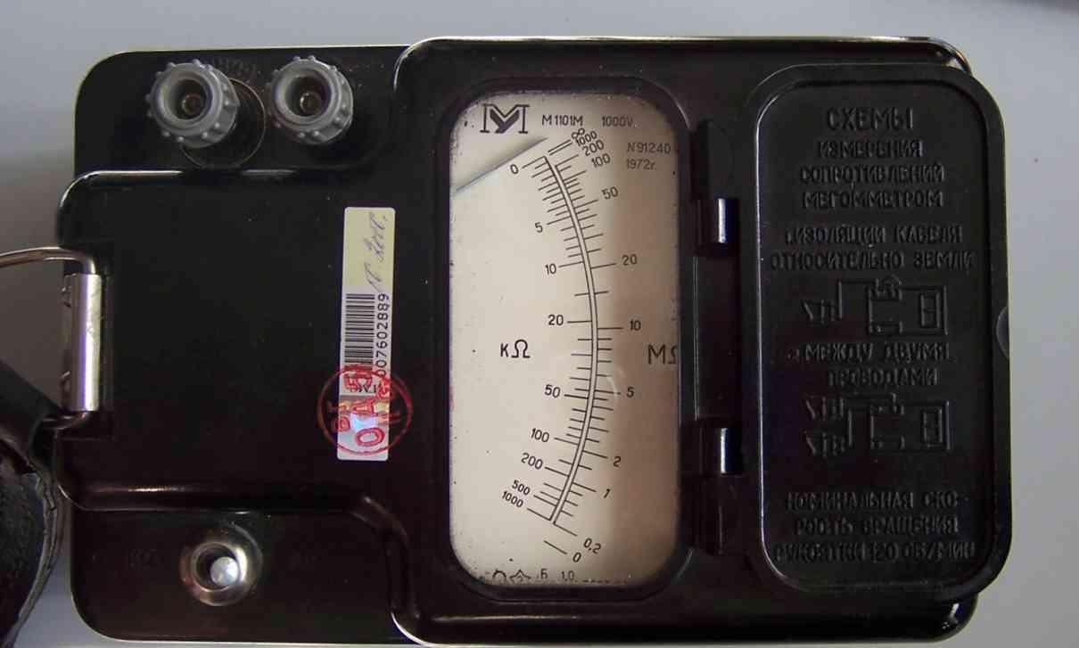 проверка датчика с помощью мегаомметра