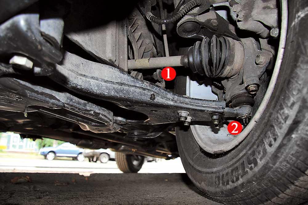 колосо автомобиля, стойки и втулки стабилизатора