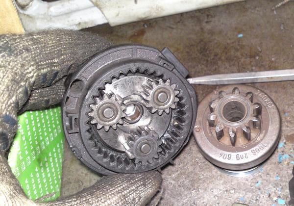 ремонт деталей автомобильного стартера