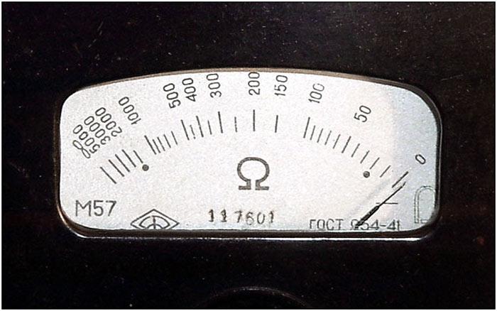 омметр для измерения сопротивления соленоида