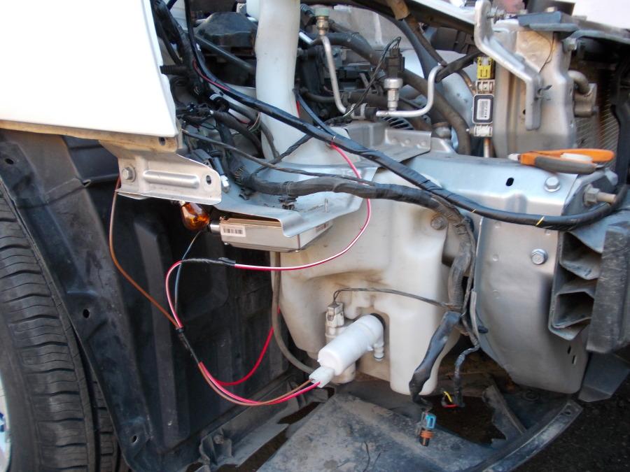 Система автомобильного омывателя фар