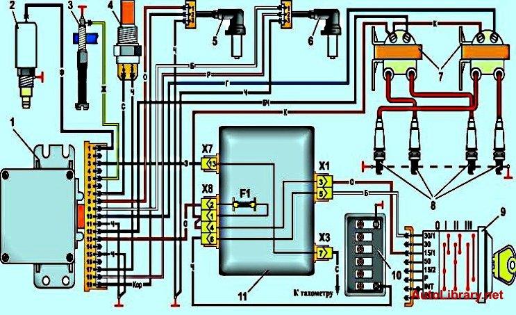 Электрическая схема микропроцессорной системы зажигания
