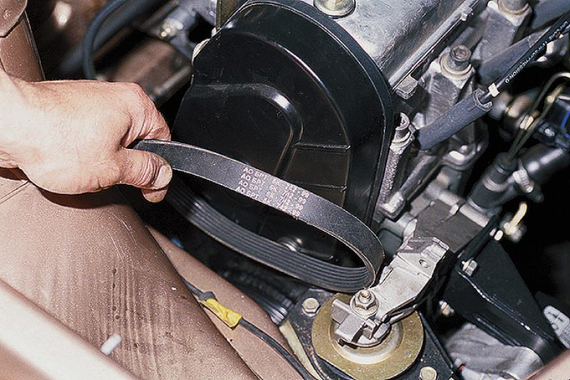 Замена ремня автомобильного генератора
