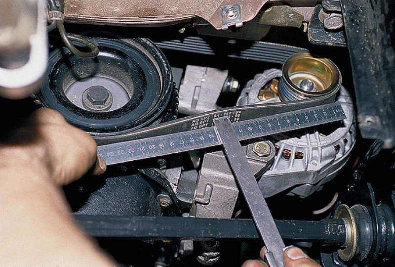 Ремонт ремня автомобильного генератора