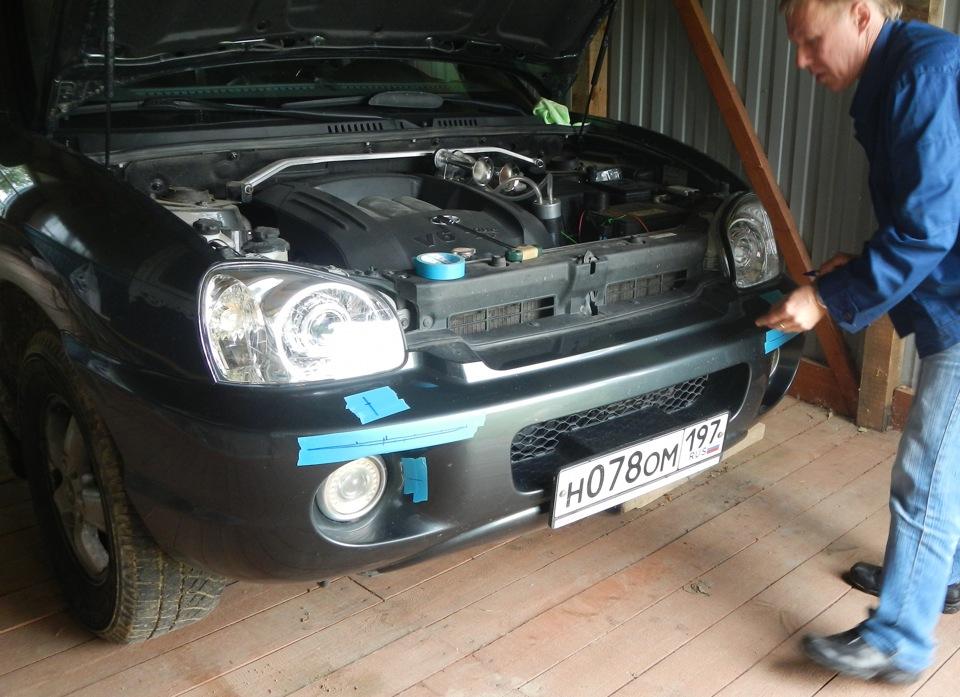 Установка омывателя фар на автомобиль