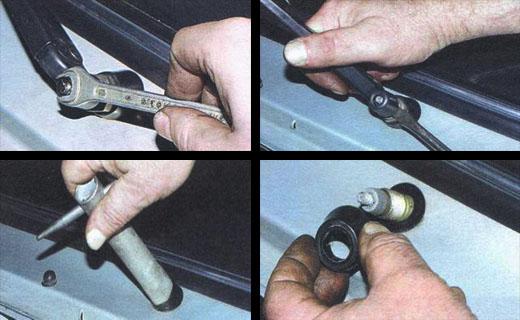 Последовательность установки автомобильного стеклоочистителя