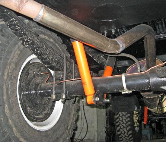 Газомасляный амортизатор на машине