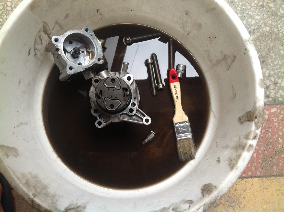 Гидроусилитель руля после очистки