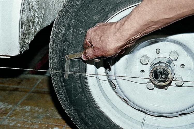 Регулировка развала колес машины