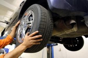 Установка колеса на автомобиль