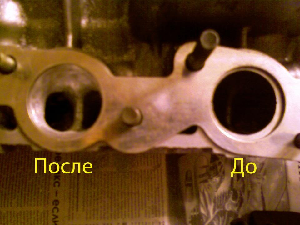 Канал ГБЦ до и после расточки