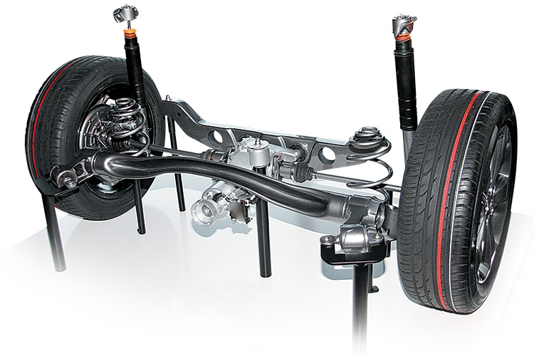 Фото электромагнитной автомобильной подвески