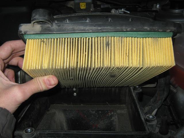 Снятие воздушного фильтра авто