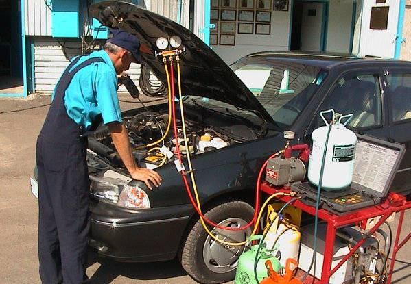 Промывка автокондиционера на СТО
