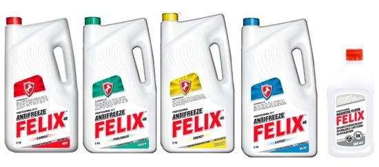 Разные виды антифризов Felix