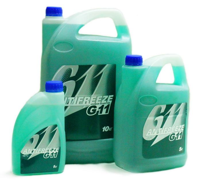 Зеленая охлаждающая жидкость G11