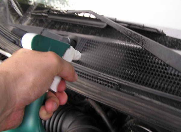 Очистка кондиционера авто хлоргексидином