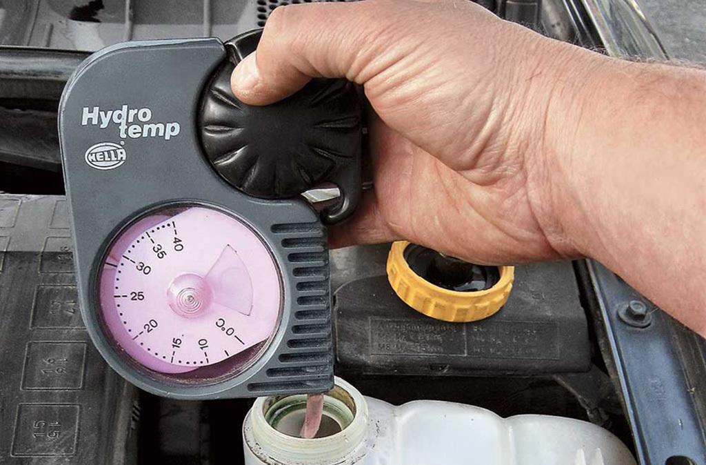 Измерение температуры охлаждающей жидкости