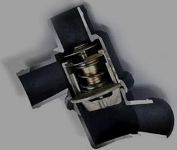 Автомобильный термостат в разрезе