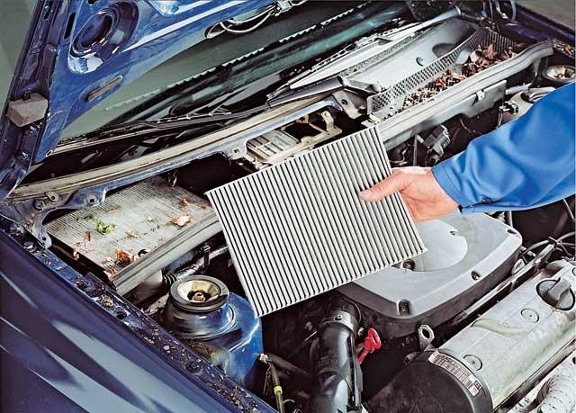 Очищенный испаритель кондиционера автомобиля