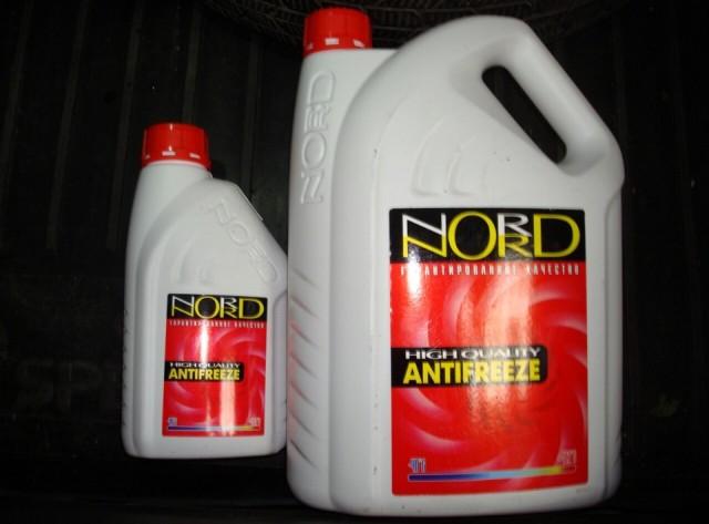 Красный антифриз марки Норд