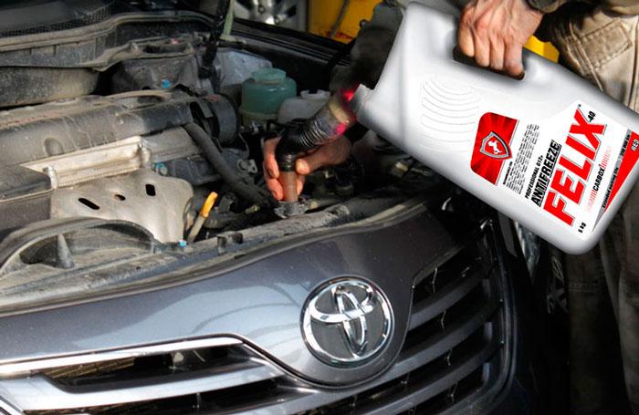 Замена охлаждающей жидкости в авто