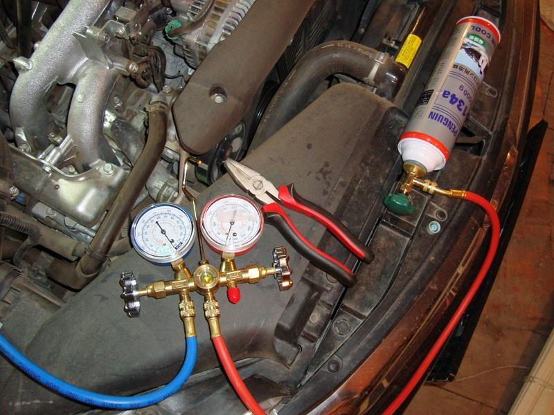 Замена фреона в кондиционере авто