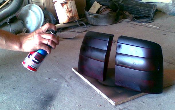 Тонировка фар краской своими руками 61