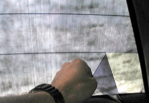 Снятие тонировки с заднего стекла