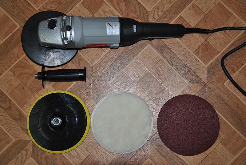 Шлифовальная машинка для полировки бампера