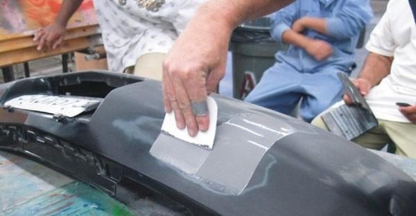 Шпатлевание бампера авто своими руками