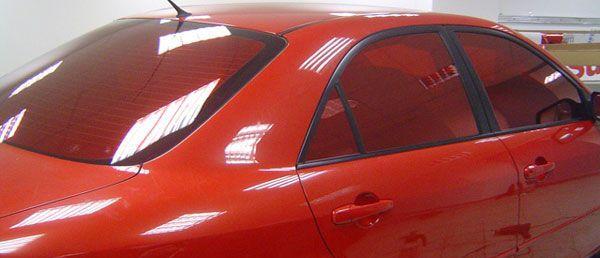 Красная тонировка на авто
