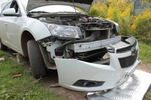 Chevrolet со снятым бампером