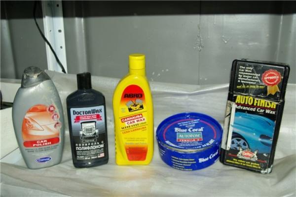 Разные виды полиролей для автомобилей