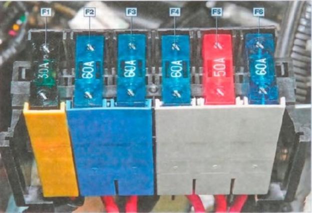 Фото электросхемы главного блока
