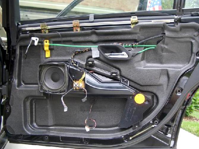 Шумоизоляция авто двери своими руками 19