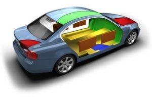 Области шумо- и виброизоляции в авто